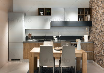 Compact modern kitchen or kitchenette