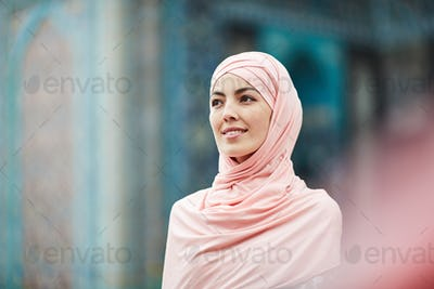 Muslim woman in mosque
