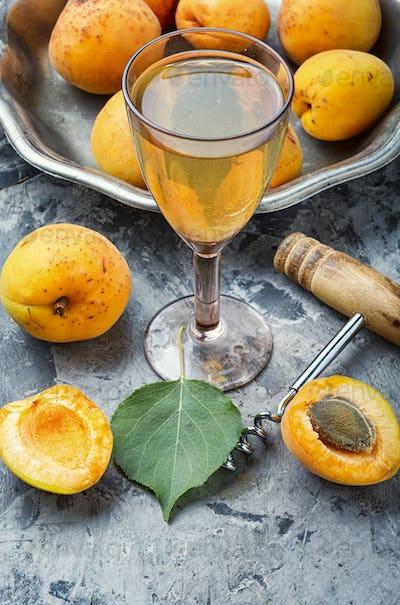 Homemade apricot wine
