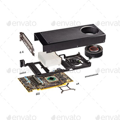 New reference modern gaming graphics card