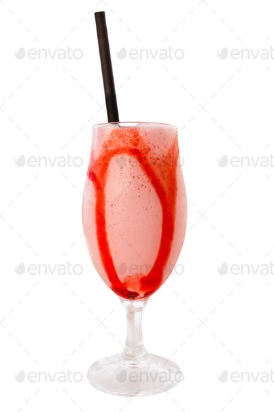 Isolated Tropical Fruit Drink