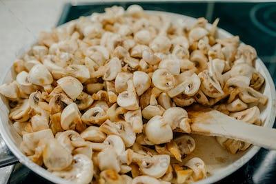 Roasted Mushrooms on Pan