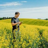 Agriculture Farmer holding tablet