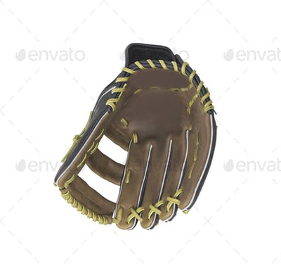 leather baseball glove isolated on white background