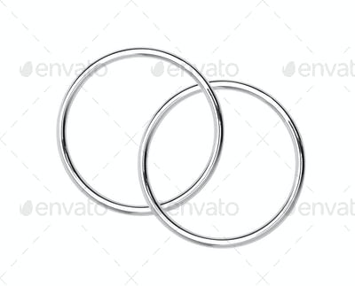 Metal hoops isolated on white