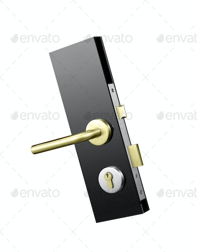 Door lock isolated on white