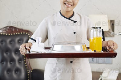 Room service at the hotel