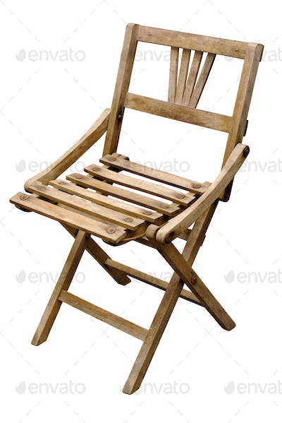 Very old wooden folding chair