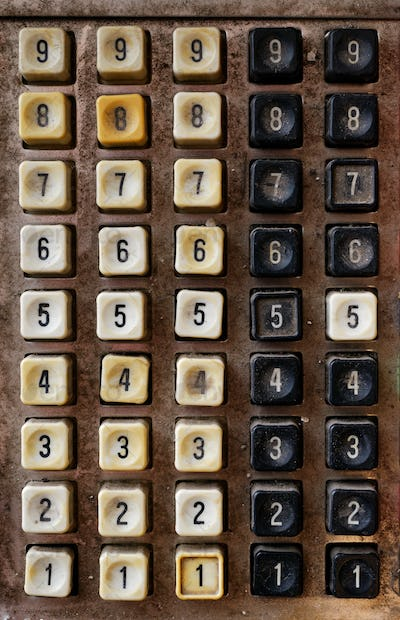 Very old numeric keyboard