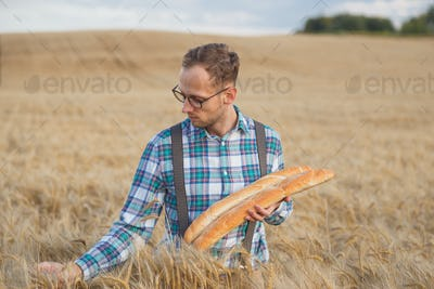 Young farmer or baker portrait