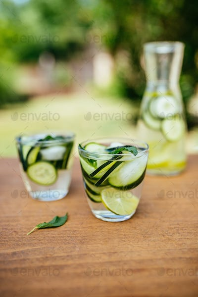 Infused Detox Water With Cucumber