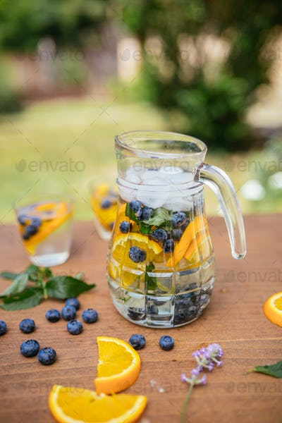 Glass Bottle Of Infused Detox Water