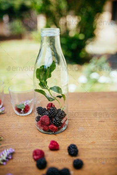 Infused Detox Water In A Bottle