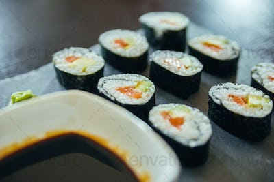 Sushi On A Plate
