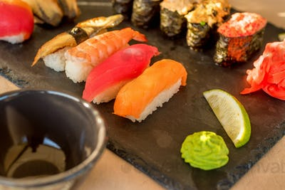 Fresh and delicious sushi