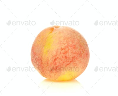 Peach fruit on white background.