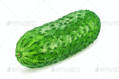 Green cucumber isolated on white