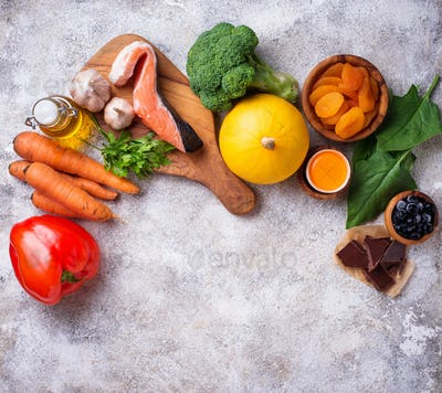 Healthy food good for vision