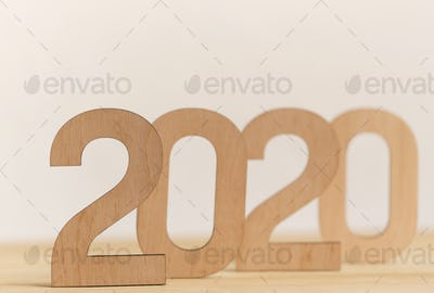 Big wooden text standing one by one on office table