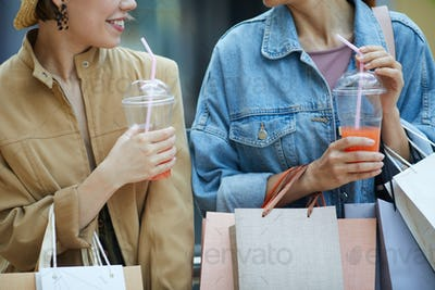 Refreshing summer cocktails during shopping
