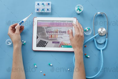 Checking health with medical website