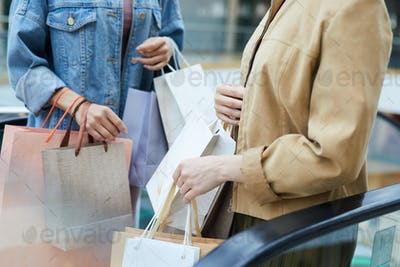 Women with many shopping bags