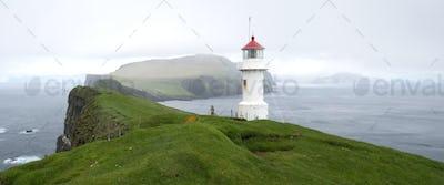 Lighthouse on Mykines Holmur