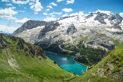 Alpine landscape in the Dolomites, Italy
