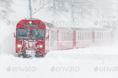 Swiss mountain train