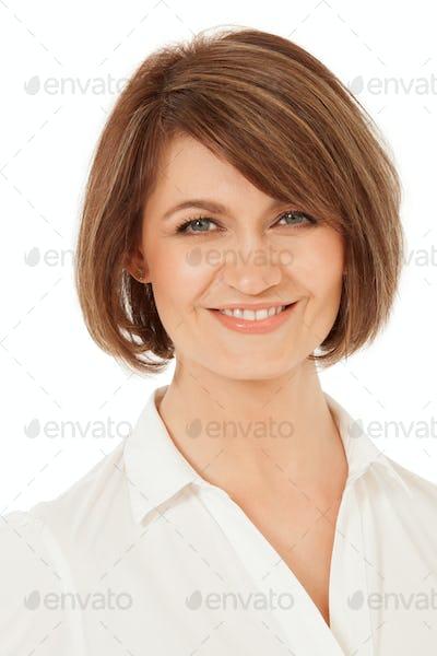 Studio shot of attractive adult woman