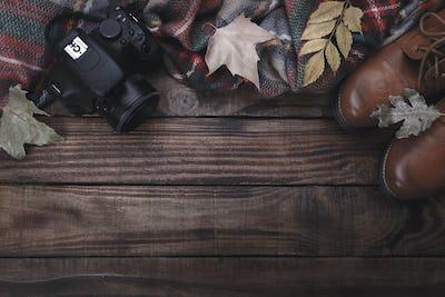 Traveler's items, autumn concept