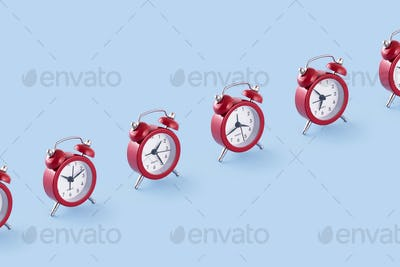 Classic red clocks