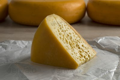 Piece of Dutch Stolwijker cheese