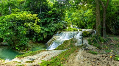 Mele Maat Cascades in Port Vila, Efate Island, Vanuatu, South Pa