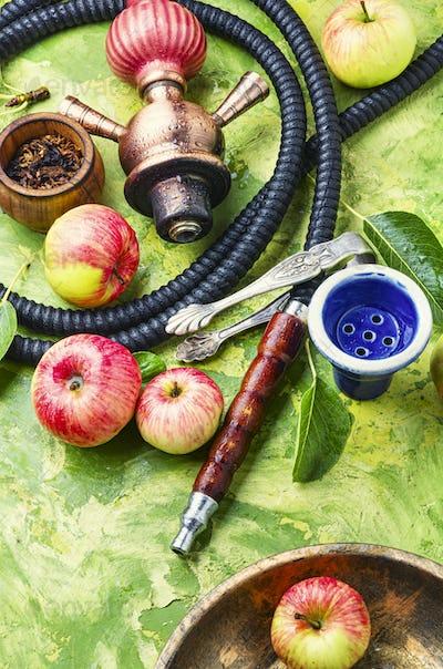 Turkish hookah with apple tobacco