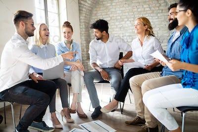 Business People Success Collaboration Teamwork Union Concept