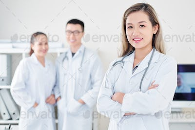 Young smiling general practitioner