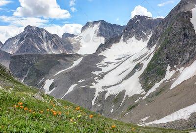 Mountain Range in Eastern Siberia.