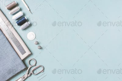 Blue Sewing Background