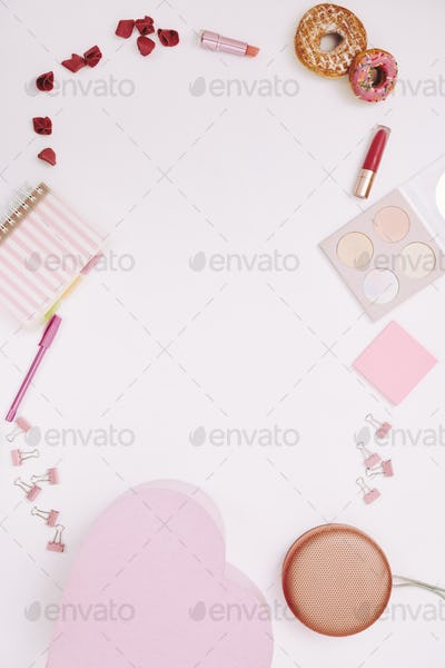 Female pink backgrounds