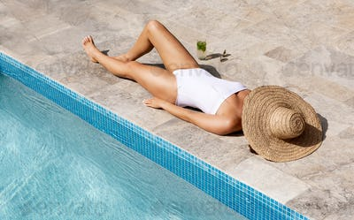 Woman by a Pool