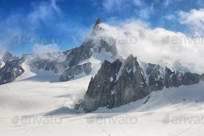 View from Punta Helbronner, Aosta Valley, Italy