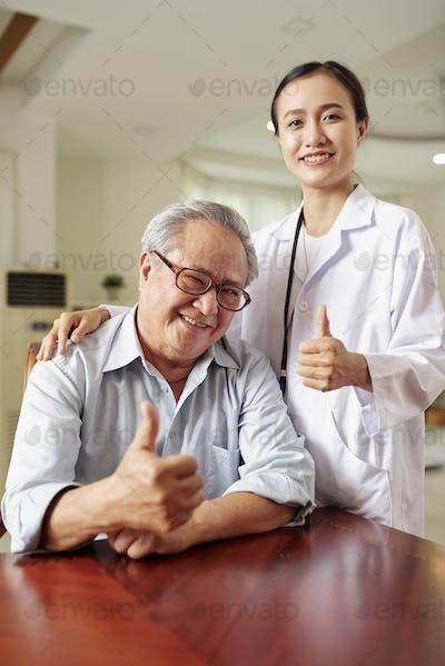 Successful treatment at hospital