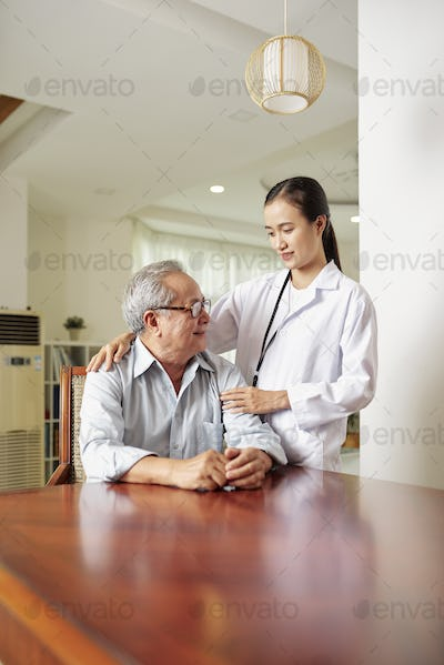 Doctor with her senior patient