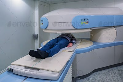 Modern MRI Scanner at hospital