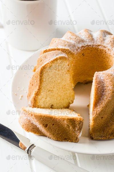 Sweet bundt cake.