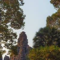 Bayon famous jungle temple in Cambodia