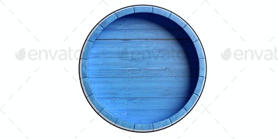 Barrel top wood isolated on white background. 3d illustration