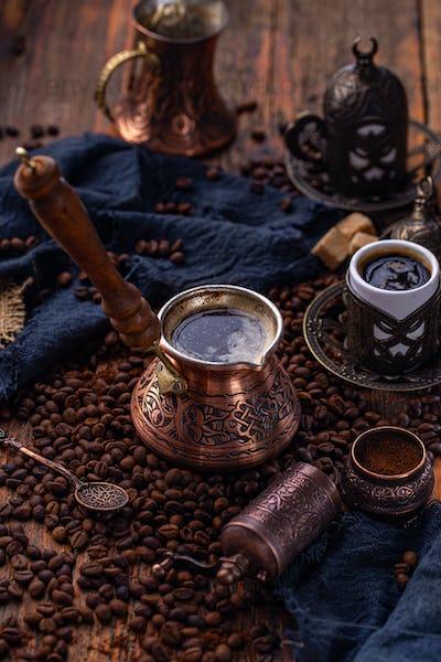 Old Turkish coffee pot