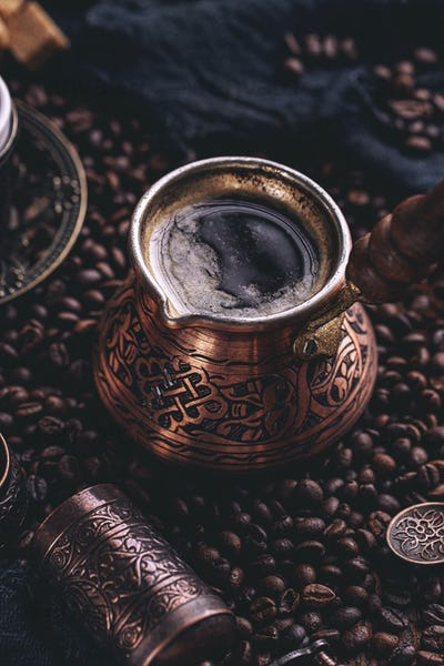 Close up of hot coffee